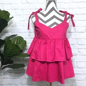 ZARA trafaluc ribbon strap ruffle blouse